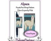 Peyote Beading Pattern (Pen Wrap/Cover)-Alpaca