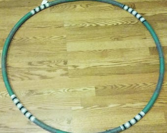 "Fully Handmade 40"" Water Fitness Yarn-Wrapped Hula Hoop, Water Hula Hoop, Fitness Hula Hoop, Beginner Hula Hoop, Large Hula Hoop"