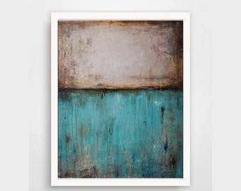 large wall art ,teal, turquoise Abstract Painting Original Fine Art Acrylic painting,modean painting
