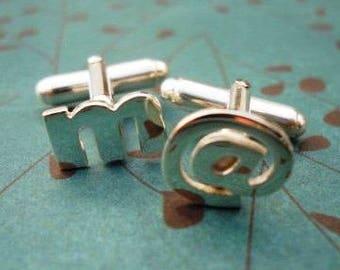 Custom 3 initial cufflinks