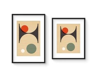 PER FORMARE no.3 - Giclee Print - Mid Century Modern Danish Modern Style Minimalist Modernist Eames Abstract