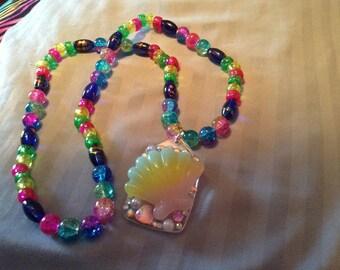 Beach kandi necklace