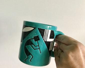 Vintage Waechtersbach Kokopelli Coffee Mug 1980s