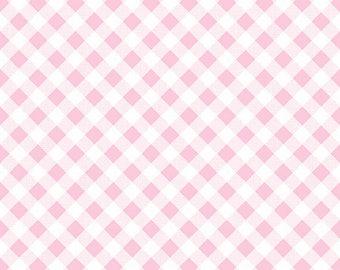 7.99 A Yard - One Week Sale- Lori Holt For Riley Blake Sew 2 Cherry Gingham Pink - C5808