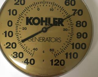 Vintage Kohler Generators Thermometer Wall hanger