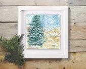 "Fine Art Original Encaustic Painting ""Snowish"""