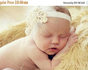 12% off Baby headband, newborn headband, adult headband, child headband and photography prop The single sprinkled- SMALL LEAF rosie headband