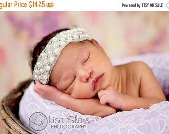12% off newborn headband, adult headband, child headband and photography prop Single Sprinkled WAVERLY