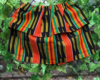 Kente double layer skirt