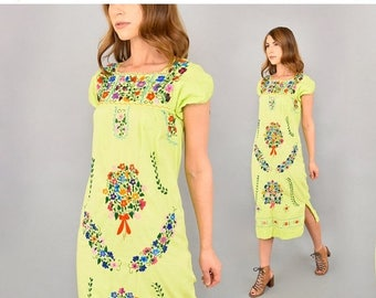 SUMMER SALE Embroidered Oaxacan Dress