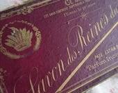 Superb antique French soap box SAVON DES REINES  c1880 - Belle Brocante  Gilded card box