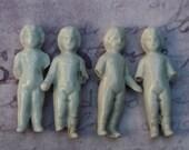 "4 Dolls Frozen Charlotte 2"" Broken Antique German"