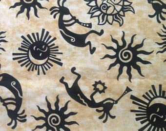 Sunshine and Trumpets - Cotton- Fabric-27 inches