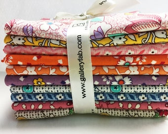 10 AUNT GRACE 1930's Reproduction Fat Quarters Quilt Fabric by Judie Rothermel for Marcus Brothers ~ Set 1