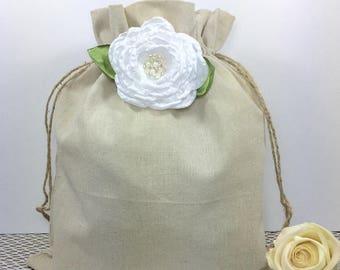 2 Wedding money dance bags, Rustic wedding dance bag, Dollar dance bag, Wedding, Burlap wedding, Flower girl, Barn wedding, Wedding bag.