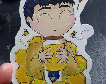 Vinyl Sticker - Castiel with Bees