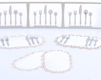 1:48 Silverware set with Placemats NEW!!