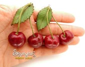 Realistic Cherries Earrings - Gifts for her