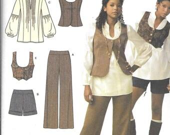 Simplicity 3690 Misses' Top, Vests, Pants or Shorts Sewing Pattern UNCUT Size 4, 6, 8, 10, 12