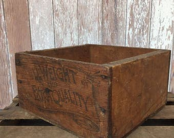 1890's Foards & Stokes Red Cross Soap Wood shipping crate Astoria OREGON