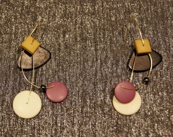 Vintage Geometric Modernist Mobile Earrings