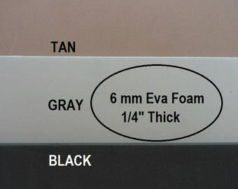 Eva Foam, 6mm Foam Insole Shoe Padding, Shoe Cushion, One Sheet 9 X 12, Shoe Making Supplies, Gray or Black Foam