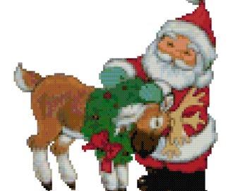 A Reindeers Love Cross Stitch Pattern