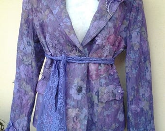 20%OFF bohemian gypsy lagenlook burlesque hipster jacket....medium to 38'' bust FREE SHIPPING