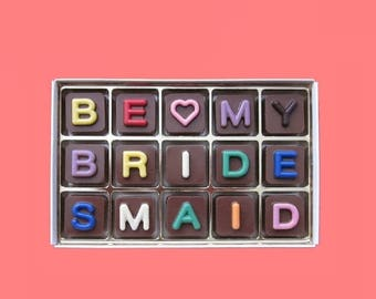 ship AFTER 8/7 Ask Bridesmaid Proposal Gift Would Will You Be My Bridesmaid Gift Personalized Fun Idea Way Ask Invitation Jelly Bean Chocola