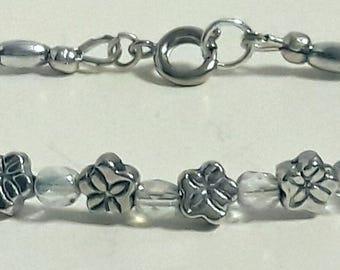 Children's flora silver bracelet