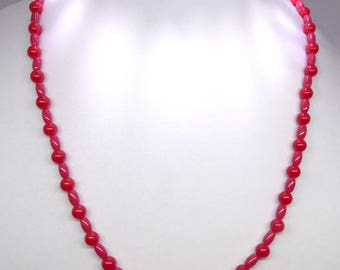 Brilliant Lustrous Red Bead Necklace