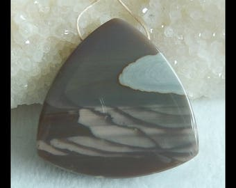 Wave Jasper Gemstone Pendant Bead,Triangle Pendant,40x9mm,23.2g(f0328)