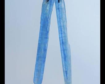 New,Nugget Blue Kyanite Gemstone Earring Bead,55x8x3m,4.1g