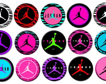 "2-1/4"" - MICHAEL JORDAN-  Lot of 15 Buttons - Pin Back Button Badge"