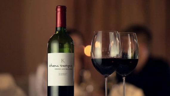 Custom Marketing Video - Logo on Wine Glass - Pouring Wine