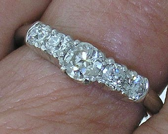 DIAMOND WEDDING BAND~Vintage Diamond Wedding Band, Circa 1915-20