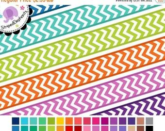 40% OFF SALE Chevron Digital Ribbon Clipart 1 - Digital Scrapbook Embellishment - Instant Download - Commercial Use