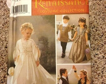 Simplicity 5909 Sewing Pattern Child Sizes 3-8 Boys & Girls Renaissance Medieval Renfair Halloween Costume, Pennsic Costume, Craft Supplies