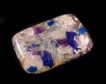 Orgonite® Orgone.  Lapis, Rose Quartz, Auralite, Amethyst, Phenacite, Petalite, Arkansas Crystals, Rhodizite, Elite Shungite, Selenite  (g12