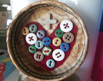 Sacred Heart Detentes Corazon Handmade Sacred Art Heart