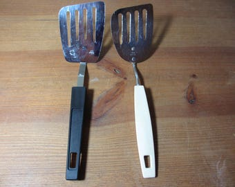 Small Slotted Angled Spatula, Foley or Ekco, Vintage Kitchen Utensil
