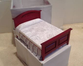 Dollhouse miniature bed