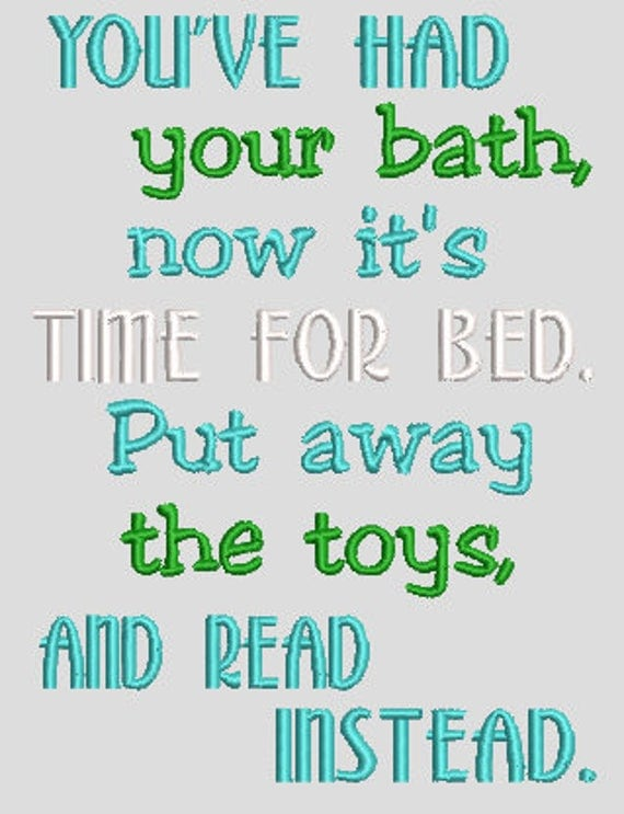 Time For Bed, Put away Toys  Digital File