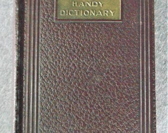 Oxford Handy Dictionary Or Current English American Edition Beautiful Embossed Hardback Compiled By Fowler & Fowler 1927