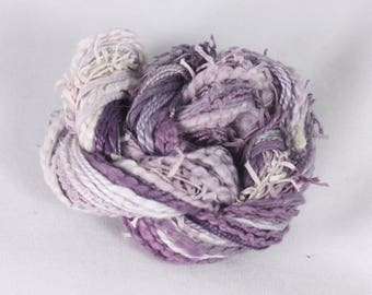 Mauve Purple Lilac Thread weaving thread sewing quilting ribbon Embroidery thread embellishment Waldorf doll hair cotton eyelash