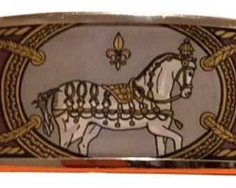 HERMES Grand Apparat Enamel Cuff Bracelet
