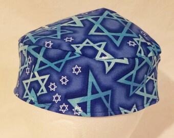Signature Stars of David Original Style Kippah Yarmulke Washable Reversible