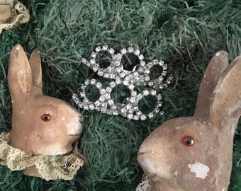 A Pair Of Vintage Musi Rhinestone Shoe Clips