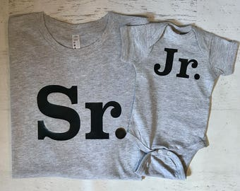 Sr. and Jr. Daddy and Me T-shirt and Bodysuit Set