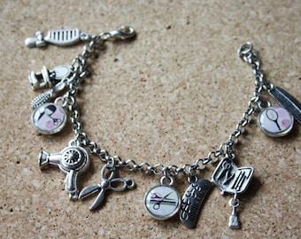 Resin Charms Bracelet Hairdresser,Resin,Charm Bracelet,charms,bracelet,pendants,gift